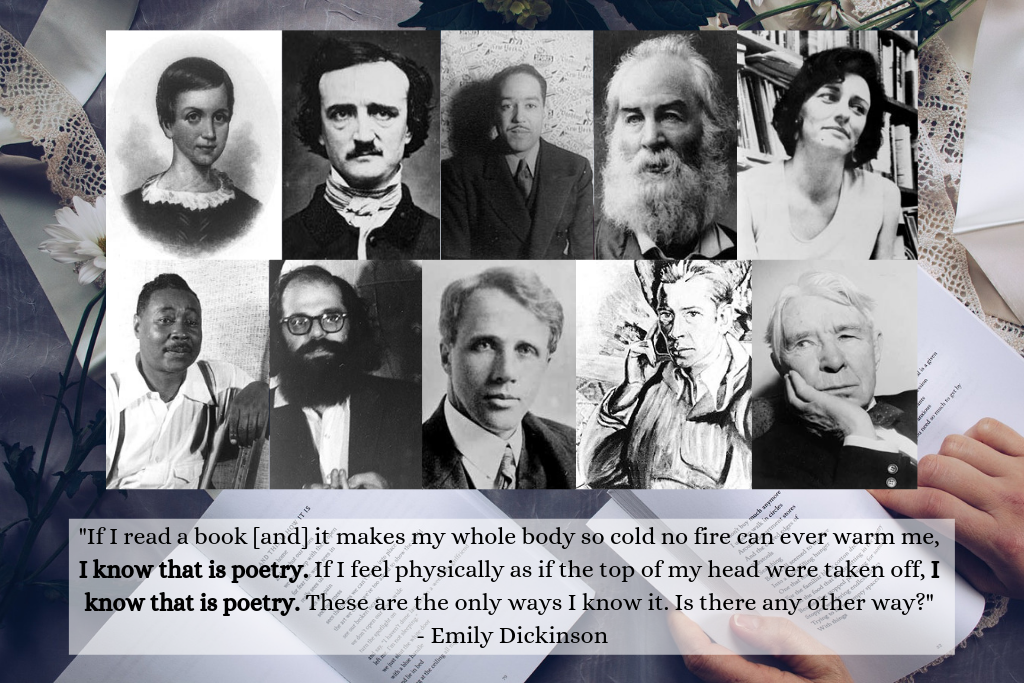 National Poetry Month - images of American poets